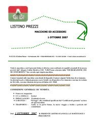 listino prezzi 2007-2008 - M. Gi. Bi. di Iuliano Rocco
