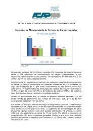 Mercados de Movimentação de Terras e de Cargas em baixa