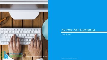 No More Pain Ergonomics