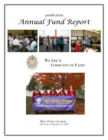 Annual Fund Report - Holy Family Academy