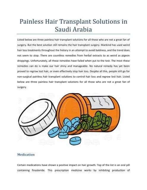 Painless Hair Transplant Solutions in Saudi Arabia