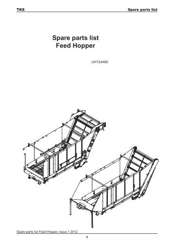 Spare parts list Feed Hopper - TKS AS