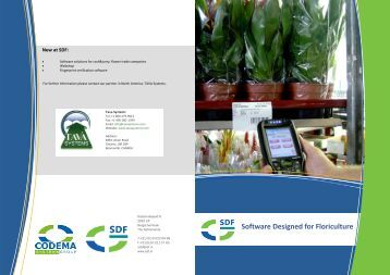 Software Designed for Floriculture - CODEMA Systems Group
