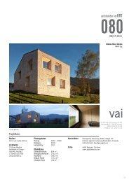 VAI Architektur vor ORT - Georg Bechter