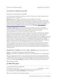 Elternbrief: Interesse an Austausch 2014 & Bewerbung