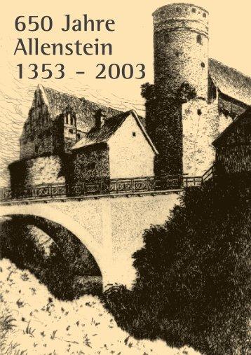 650 Jahre Allenstein 1353 - 2003 - Stadtgemeinschaft Tilsit eV