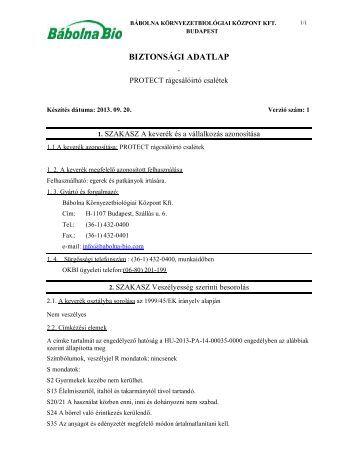 Protect rágcsálóirtó csalétek - Bábolna-Bio Kft.