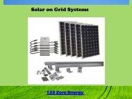 Solar on Grid Systems