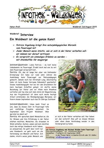 Infothek Waldkinder - Interview mit Patricia Vogelsang - Ein Waldnest ist die ganze Kunst