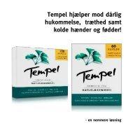 Tempel hjælper mod dårlig hukommelse, træthed samt ... - Mezina A/S