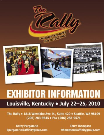 exhibitor information - The Rally