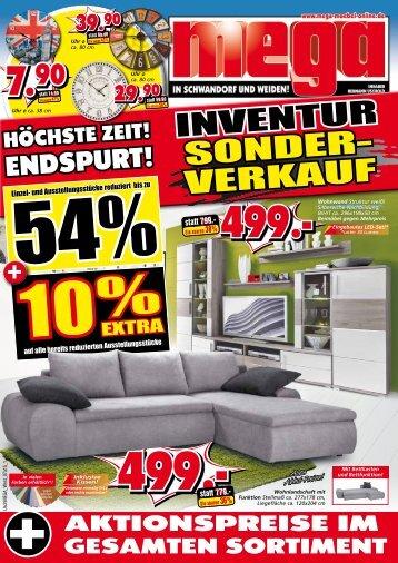 Endspurt! Inventur Sonder-Verkauf