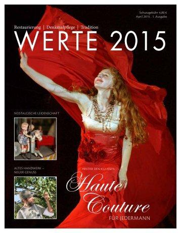 Magazin WERTE 2015 - 1. Ausgabe - Leseprobe