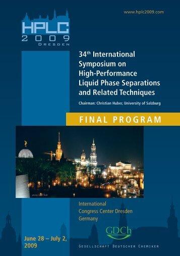Final Program [QUALITY] - HPLC 2009