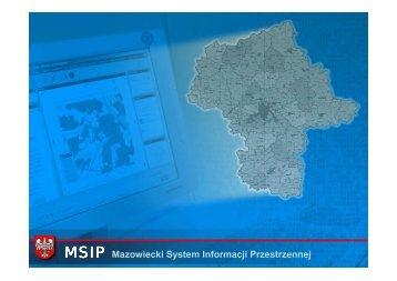 MSIP Mazowiecki System Informacji Przestrzennej