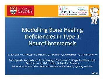 Modelling Bone Healing Deficiencies in Type 1 Neurofibromatosis