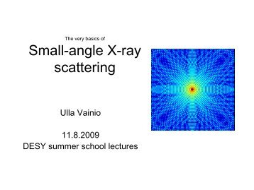 Small-angle X-ray scattering - Hasylab - Desy