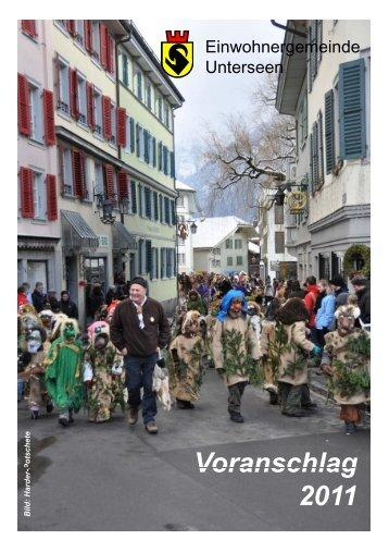 Voranschlag Voranschlag 2011 - Unterseen