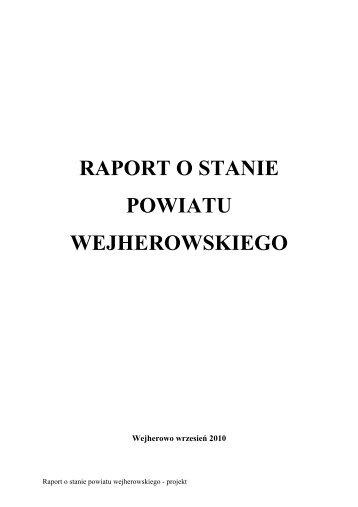 raport o stanie powiatu wejherowskiego - Powiat Wejherowski