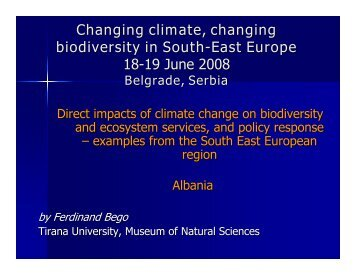 Albania's Response to Climate Changes - ECNC