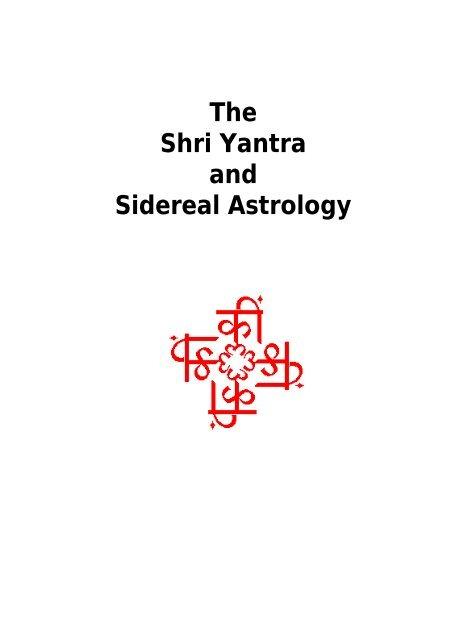 Shri Yantra and Sidereal Astrology - Shiva Shakti Mandalam