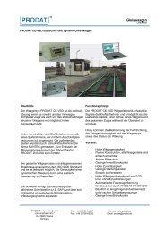 Gleiswaagen - PRODAT Informatik Gmbh