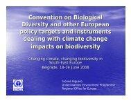 climate change and biodiversity - ECNC