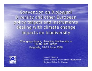 climate change and biodiversity - ECNC