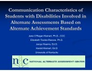 Communication characteristics of students in alternate ... - NAAC
