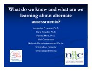 What do we know and what are we learning about alternate ... - NAAC