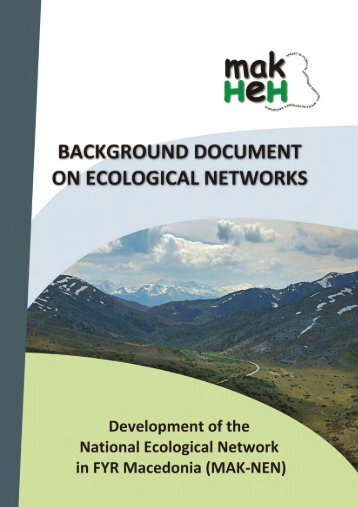 Background document on Ecological Networks - ECNC