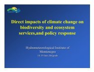 Direct impacts of climate change on biodiversity and ... - ECNC