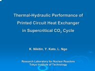 Thermal-Hydraulic Performance of Printed Circuit Heat Exchanger in ...