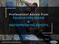 Advice from Foundation Repair & Waterproofing Experts