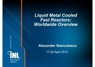 Liquid Metal Cooled Fast Reactors: Worldwide Overview Worldwide ...