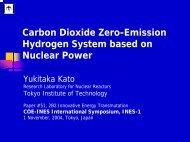 Carbon Dioxide Zero-Emission Hydrogen System based on Nuclear ...