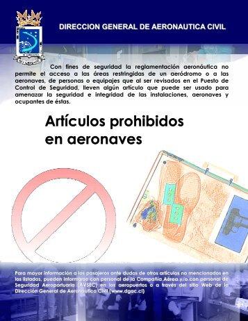 Artículos Prohibidos - DGAC