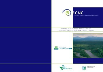European corridors: Strategies for corridor development for ... - ECNC