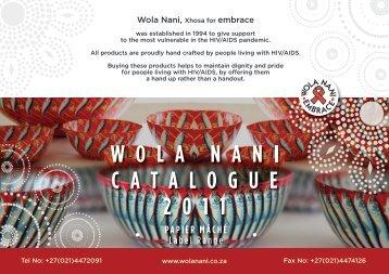 Paper Mache Label - Wola Nani