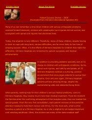 El Kahir Home About The Shrine Printable Version Patient Success ...