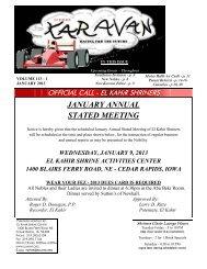 Karavan Layout - website - January 2013 - El Kahir Shrine