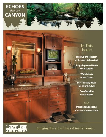 August - Canyon Creek Cabinet Company