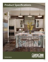 Specifications - Canyon Creek Cabinet Company