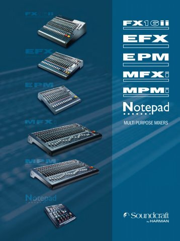 MULTI PURPOSE MIXERS - Soundcraft