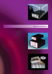 Spectrometers - Knight Photonics