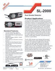SL-2000 Duct Smoke Detectors - Space Age Electronics, Inc.