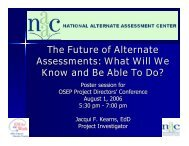 The Future of Alternate Assessments: What Will We Know ... - NAAC