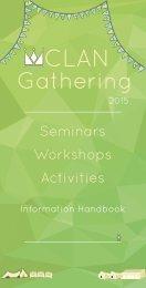 CLAN Gathering Seminar and Activities Information Handbook