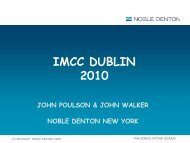 IMCC DUBLIN 2010 - IMCC - International Marine Claims Conference