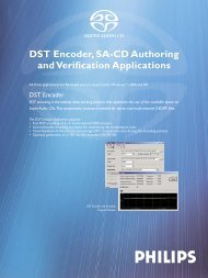 DST Encoder, SA-CD Authoring and Verification ... - Studio General